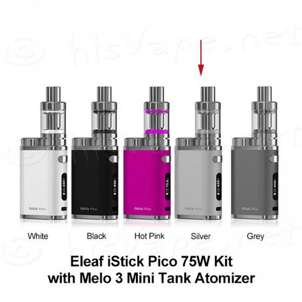 Eleaf iStick Pico TC Full Kit mit Melo 3 Mini brushed silver