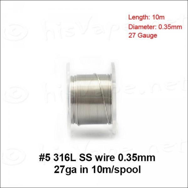 Edelstahl 316L Draht 0,35mm / 10lfm