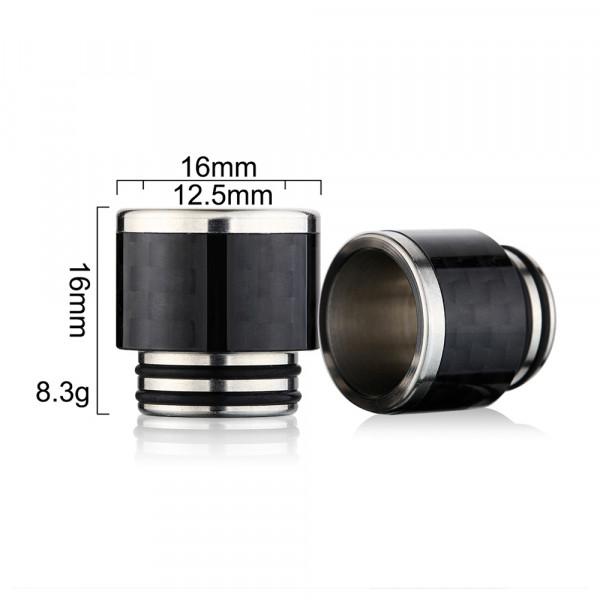 SS Carbon Fiber 810 Drip Tip CF20