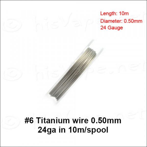 Titanium Draht 0,50mm / 10lfm