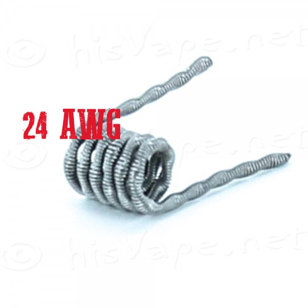 5x Twisted Core Clapton Coil 24AWG