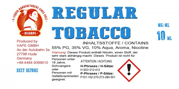 Regular Tobacco Blend Smooth