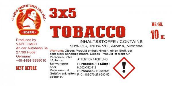 3X5 Tobacco Blend