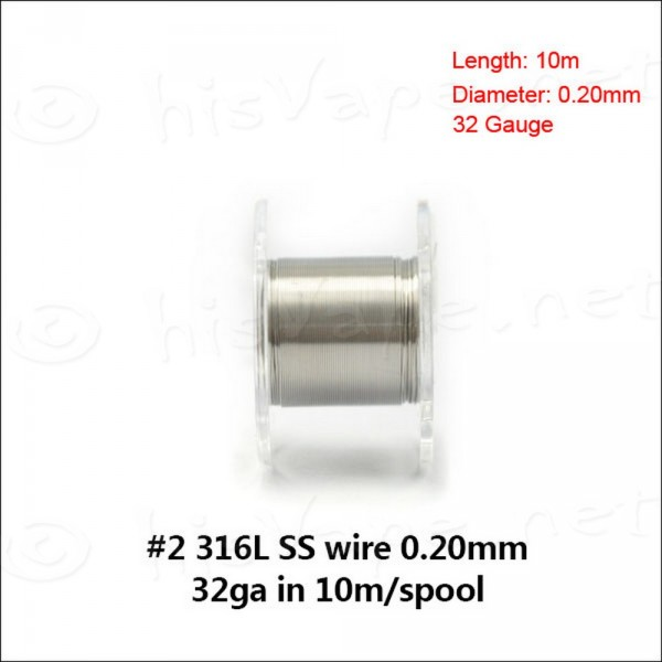 Edelstahl 316L Draht 0,20mm / 10lfm