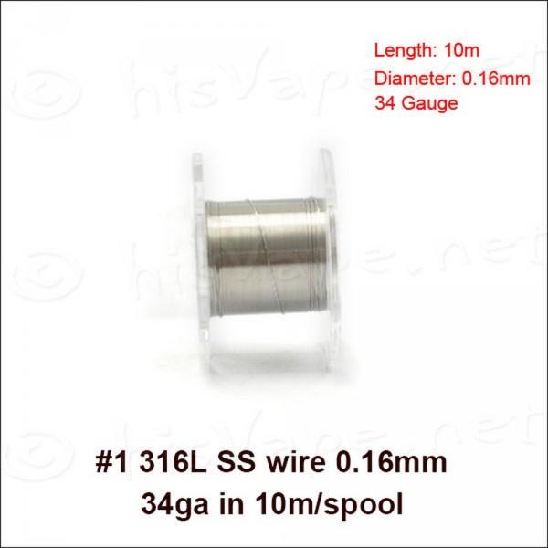 Edelstahl 316L Draht 0,16mm / 10lfm