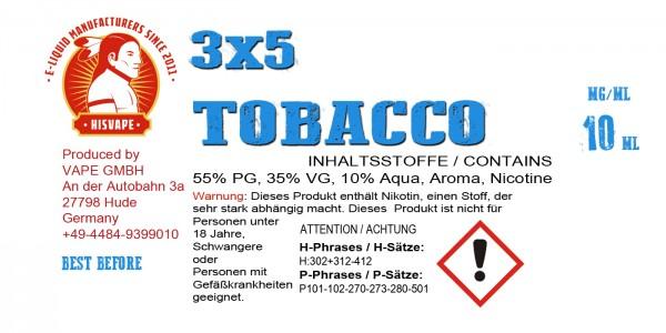 3X5 Tobacco Blend Smooth