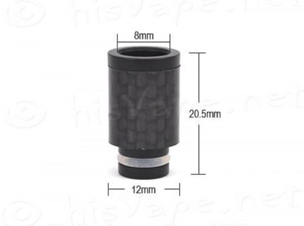 Carbon wide bore Driptip