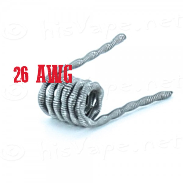 5x Twisted Core Clapton Coil 26AWG